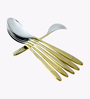 Awkenox Maiden Stainless Steel Coffee Spoons - Set of 6 (Model: B - Maiden003-Cs-006)