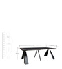Axis Convertible Console cum Dining Table in Brown Colour by Gravity