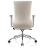 Axis Medium Back Executive Chair in White PU by Oblique