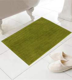 Azaani Chic Green Cotton 24 x 16 Inch Bath Mat - Set of 5