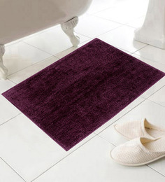 Azaani Upmarket Purple Cotton 24 x 16 Inch Bath Mat - Set of 5