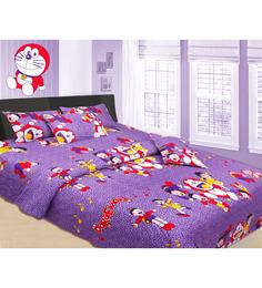 Azaani Doremon Cotton Printed Double Bedsheet