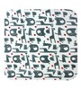 Azaani Blue Polyester Baby Blanket - Set of 4