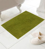 Azaani Green Cotton Micro Bath Mat - Set of 2