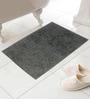 Azaani Gray Cotton Bath Mat - Set of 2