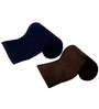 Azaani Soft Feel Navy Brown Solid Single Blanket - Set of 2