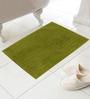 Azaani Green Cotton Bath Mat - Set of 4