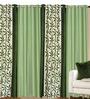 Azaani Green Polyester 84 x 48 Inch Solid Eyelet Door Curtain - Set of 4