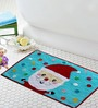 Azaani Multicolour Cotton Bath Mat - Set of 1