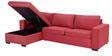 Bamery L Shape Sofa in Maroon Colour with Storageby Madesos