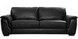 Bane Leatherette Collection-Three Seater in Black Colour by Furny