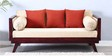 Barnes Three Seater Sofa with Cushions in Passion Mahogany Finish by Woodsworth