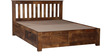 Oroville Queen Bed with storage in Provincial Teak Finish by Woodsworth