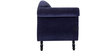 Bayley Three Seater Sofa in Navy Blue Color by Amberville