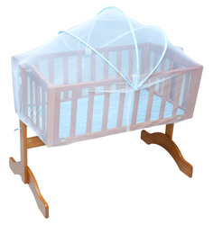 Engineered Wood Baby Cradle in Blue Colour by Mee Mee