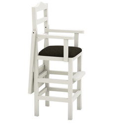Baby High Chair in White Finish by CasaTeak