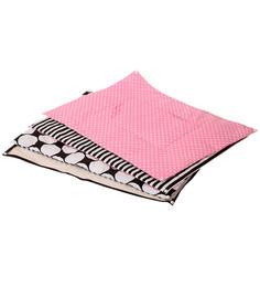 Bacati Black Dots Pink Black 4 pc Sheet Set
