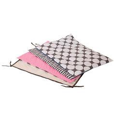 Bacati Grey Dots Pink Grey 4 pc Sheet Set