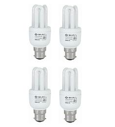 Bajaj Miniz White 8 W CFL Light - Set of 4