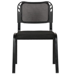 Metal Chair in Black Colour by Arvind Furniture