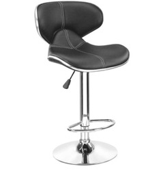 Bar Chair with Curved Back in Black Colour by Exclusive Furniture