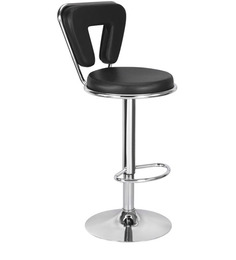 Bar Chair with V-Shaped Back in Black Colour by Exclusive Furniture