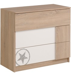 McZico Chest of Drawer in Oak & White Finish by Mollycoddle