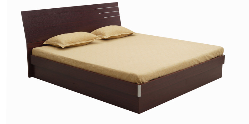 Barcelona Queen-Size Hydraulic Bed in Rosewood Colour by Royal Oak
