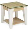 Baalbek Side Table in White Colour by @Home