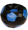 Baby Lounge Bean Bag Cover in Black N Blue Colour by ARRA