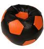 Baby Lounge Bean Bag Cover in Black N Orange Colour by ARRA