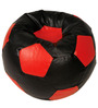 Baby Lounge Bean Bag Cover in Black N Red Colour by ARRA