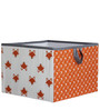 Playful Fox Orange & Grey Storage Box Large by Bacati