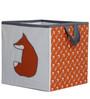 Bacati - Playful Fox Orange/Grey Storage Box Small