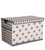 Playful Fox Orange/Grey Storage Toy Chest by Bacati