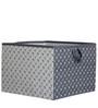 Playful Fox White & Grey Arrows Storage Box Large by Bacati