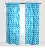 Bacati Aqua Zigzag Curtain Panel Door  Set of 2 pcs