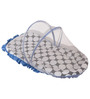 Bacati Black Dots Blue Black Mattress with Net Small