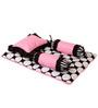 Bacati Black Dots Pink Black 4 pc Mattress Set