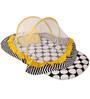 Bacati Black Dots Yellow Black Mattress with Net Large