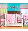 Bacati Botanical Pink Sanctuary 10 CS Crib Set
