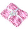 Bacati Bright Pink ZigZag Baby Throw