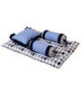 Bacati Elephant Blue Grey 4 pc Mattress Set