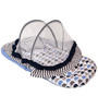 Bacati Elephant Blue Grey Mattress with Net Large