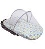 Bacati Elephant Multicolour Cotton Small Net with Mattress
