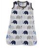 Bacati Elephant Muslin Sleep Sack in Blue & Grey