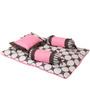 Bacati Grey Dots Pink Grey 4 pc Mattress Set