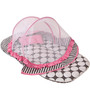 Bacati Grey Dots Pink Grey Mattress with Net Large