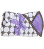 Bacati Grey Dots Purple Grey Baby Wrap