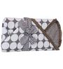 Bacati Grey Dots White Grey Baby Wrap